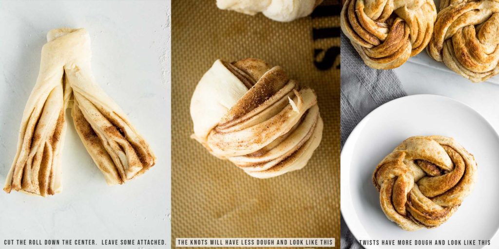 how to make cinnamon twists process shots with text overlays