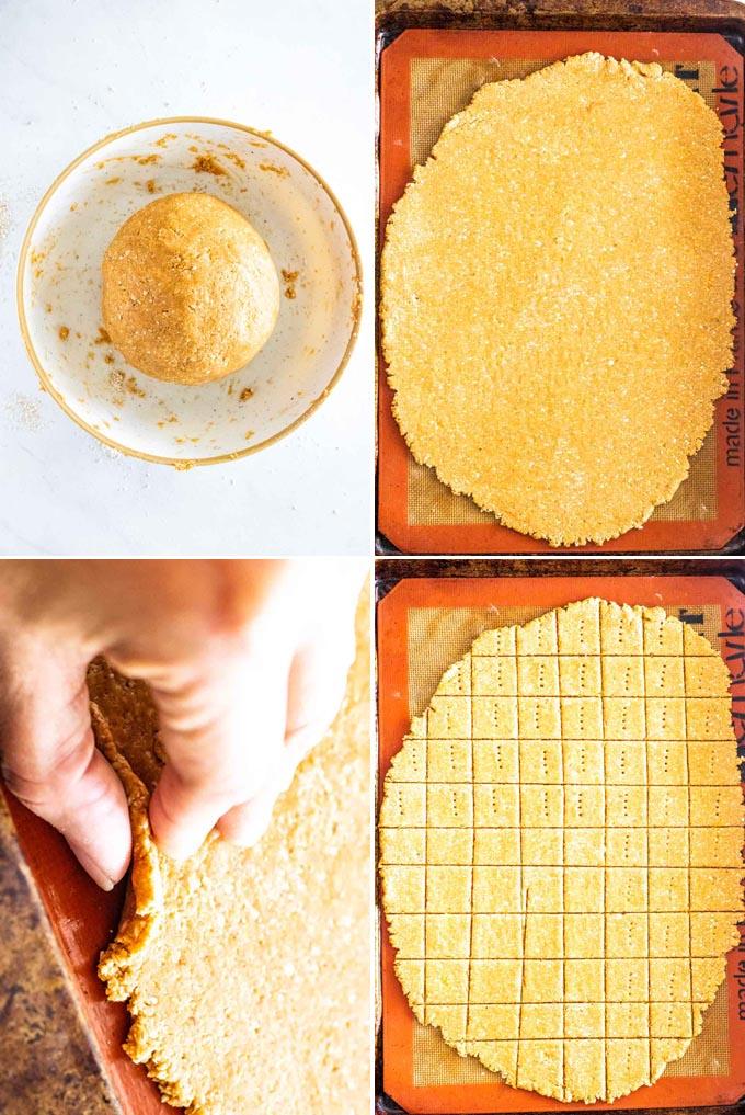 homemade dog treats process shots of dough
