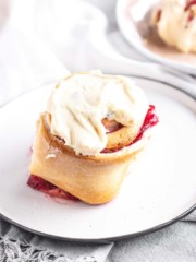 Cranberry Sweet Rolls on a plate