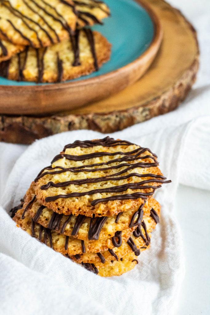 florentine cookies stacked