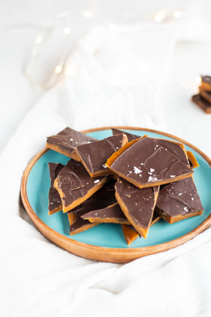 toffee on a plate