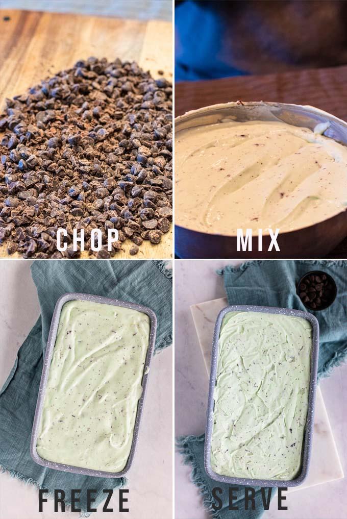 mixing homemade no churn ice cream