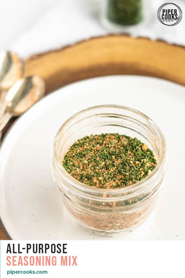 seasoning mix in a jar