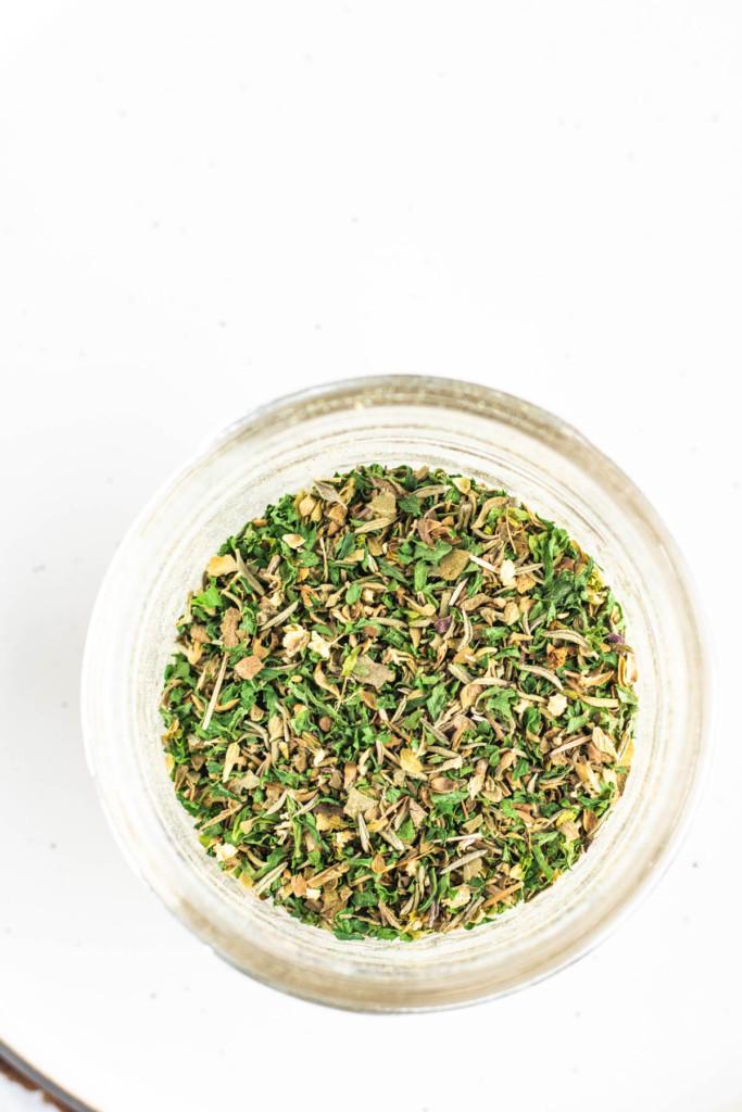 greek seasoning in a jar