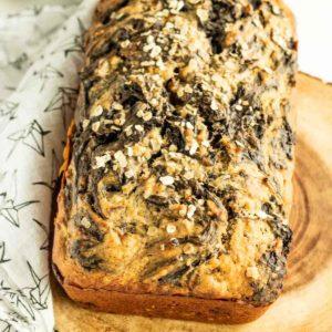 peanut butter chocolate banana bread quick bread recipe