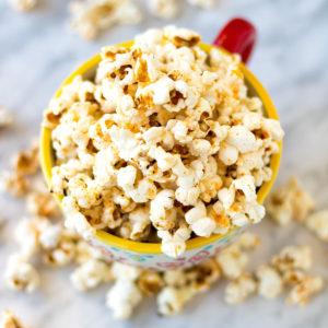 sriracha popcorn snack recipe