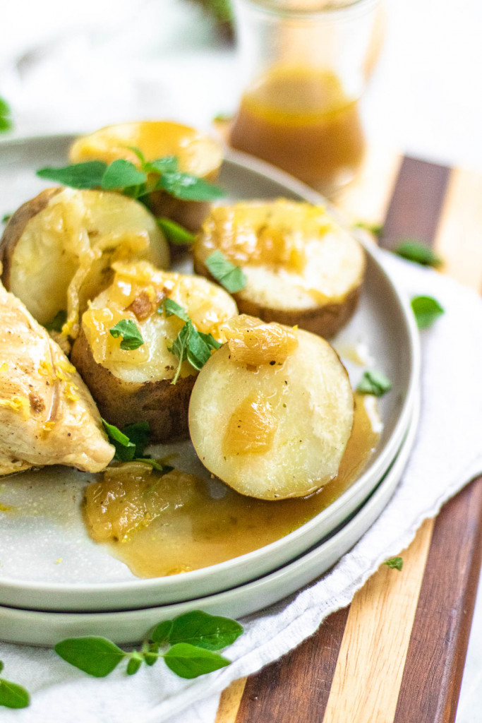 cooked potatoes on a plate