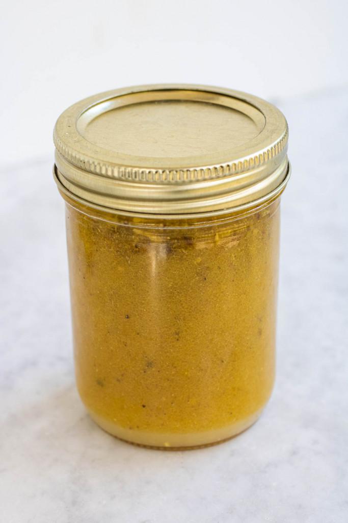salad dressing in a jar