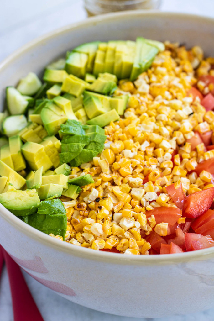 ingredients for chopped corn salad