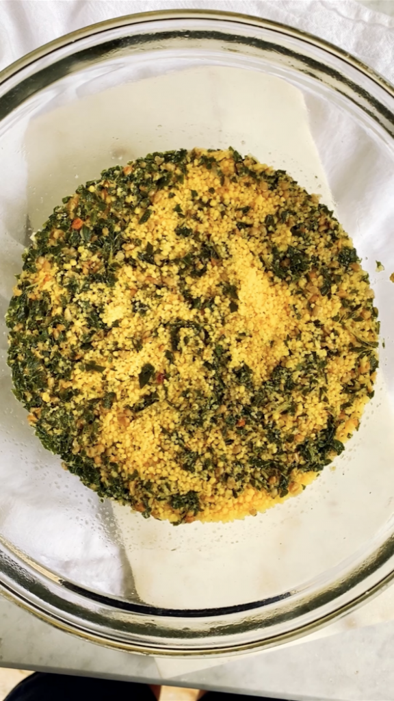 couscous after it has just been cooked